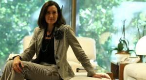Ángeles González-Sinde, en su despacho antes de la entrevista.