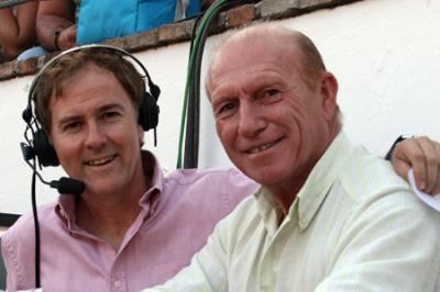 Antonio Vargas en su etapa de comentarista para Canal Sur TV.