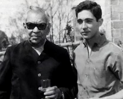 Rodolfo Gaona y un joven Paco Camino.
