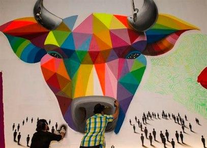 El arte urbano irrumpe en la plaza de toros de Las Ventas.
