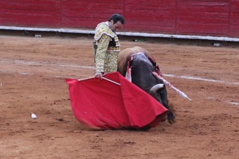 La imperiosa mano derecha de Enrique Ponce en su vuelta a La México. Foto: Miriam Cardona
