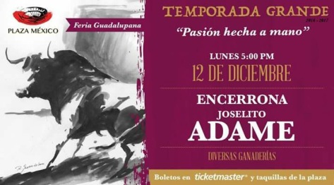 Décima de Temporada. La encerrona catorce de la historia en lunes guadalupano para José Guadalupe Adame.