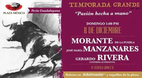 Novena de Temporada. Vuelve Morante tras el año pasado, con Teófilo de nuevo y en el encontronazo con Manzanares. Inexplicable la confirmación.