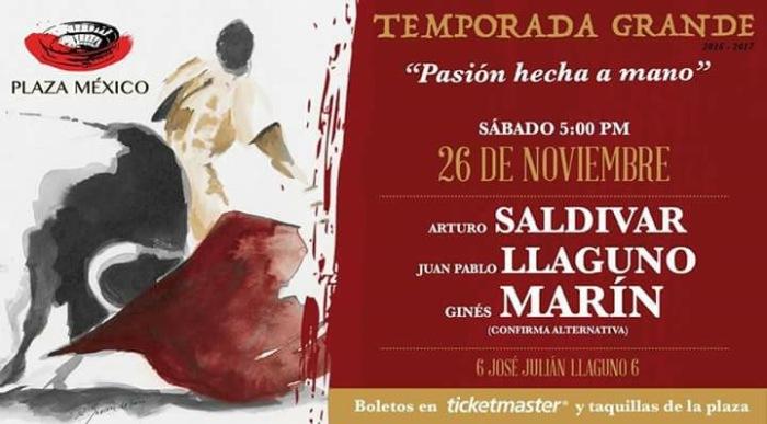 Al fin, José Julián Llaguno vuelve a la Plaza México en el año de la partida de Don José Julián.