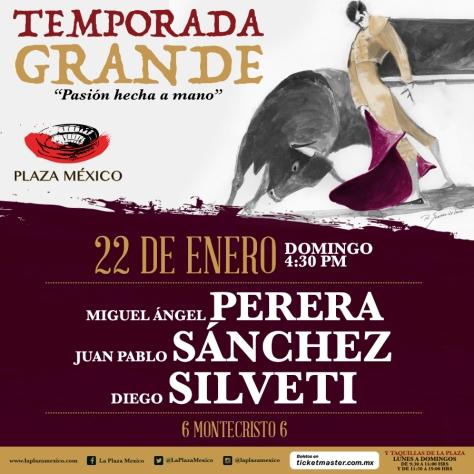 Primer cartel y primer repetición. Vuelven Perera y Sánchez, ahora con Montecristo.
