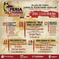 Feria de Tlaxcala 2017 - Corridas de Toros