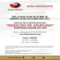 Comunicado Plaza México: Elenco para la Temporada Grande 2017-18