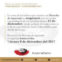 PLAZA MÉXICO: LISTA DE PRECIOS PARA LA TEMPORADA GRANDE 2017 - 2018
