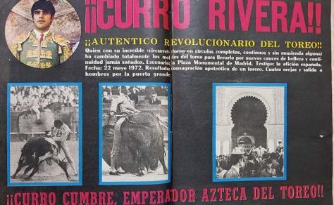 La Revolución Riverista entronizó, tras su paso por Madrid, a Curro Cumbre, Emperador Azteca del Toreo.