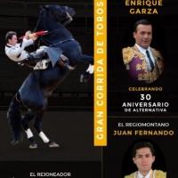 Cadereyta: Anuncian Corrida Mixta con Andy Cartagena, Enrique Garza y Juan Fernando.