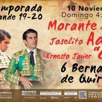 Corrida completa de Bernaldo de Quirós para una tarde de máxima expectación en la Plaza México.