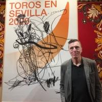 Albert Oehlen, autor del extraño cartel de la temporada taurina sevillana 2020.