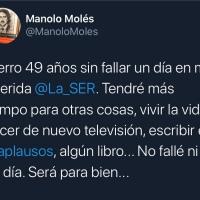La cadena SER suprime el programa 'Los Toros' de Manolo Molés.