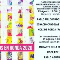 Morante, Roca Rey y Pablo Aguado, cartel de la Goyesca de Ronda.
