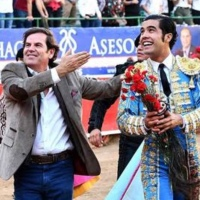 Carteles de la gira de reconstrucción de la tauromaquia: Luis David y Diego San Román por Mexico.
