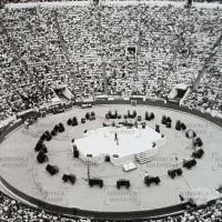 La memorable inauguración de la gran Plaza de México.