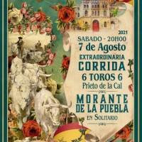 """El cartel """"torista"""" de la temporada 2021: Morante con seis toros de Prieto de la Cal en El Puerto."""