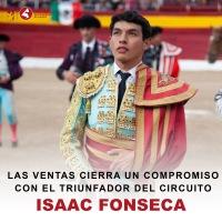 El novillero Isaac Fonseca toreará en Las Ventas en 2022.