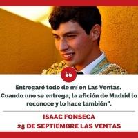 """Isaac Fonseca, el novillero mexicano que lo ha ganado todo: """"Busco entrar en la historia de Las Ventas"""""""