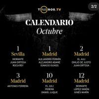 Todos los festejos de las próximas ferias de Madrid y Sevilla por Canal Toros - Plaza Toros TV.